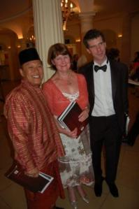Chef Wan of Malaysia, Margaret McIntosh (James' Mum) and James at the Gourmand World Cookbook Awards 1 July 2009
